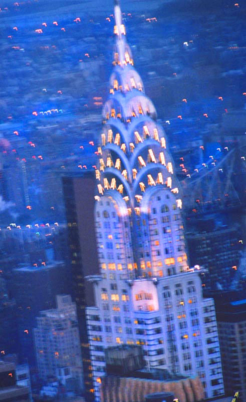 Chrysler Building, winter evening