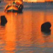 Fishing boat and buoys