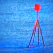 Red marker buoy