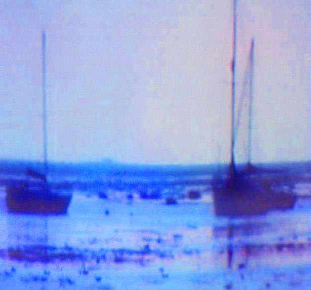 Norfolk, boats at low tide