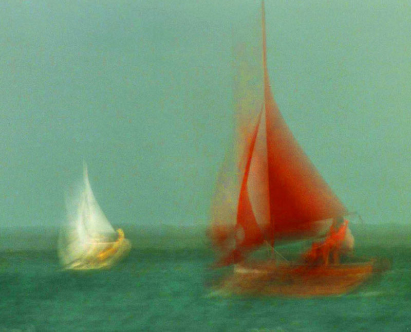 One red sail