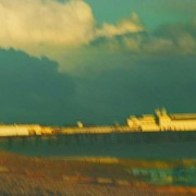 Old Hastings Pier, storm gathering