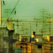 Skyline with TV masts
