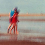 Girls at low tide, Norfolk