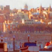 Valletta from Grand Harbour in full sun