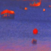 home page thumbnail Red shapes, dark blue sea
