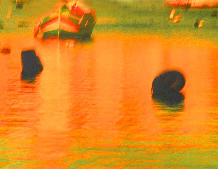 Two black buoys, Malta