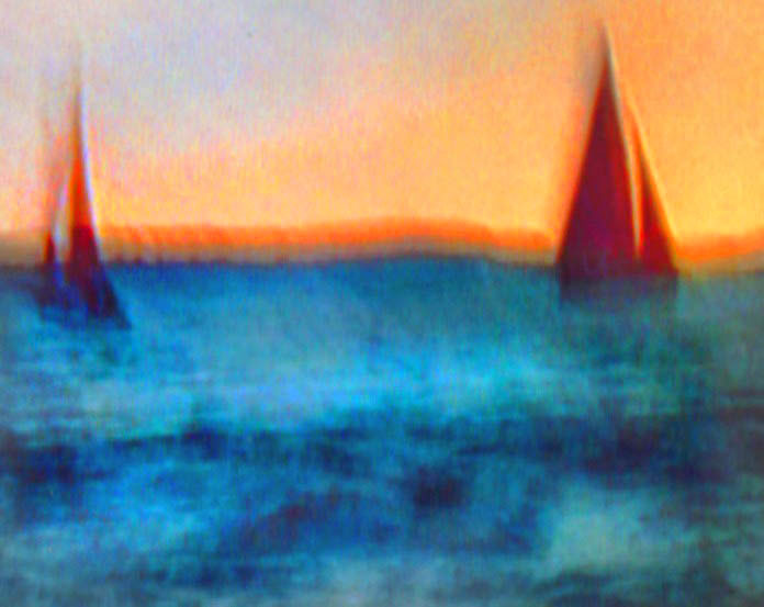 Two red sails